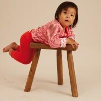 Vorschau: Leggings mit Fußbündchen in Rippqualität