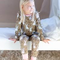 Leichter Schlafanzug Hase Sommer Übergangszeit