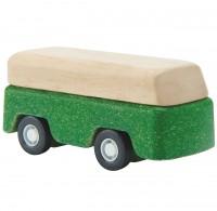 Spielzeug Auto aus Holz ab 3 Jahren grün - 7 cm lang
