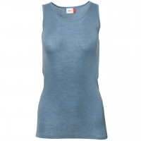Damen Wolle Seide Tank Top in hellblau