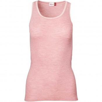 Damen Wolle Seide Tank Top in rosa meliert