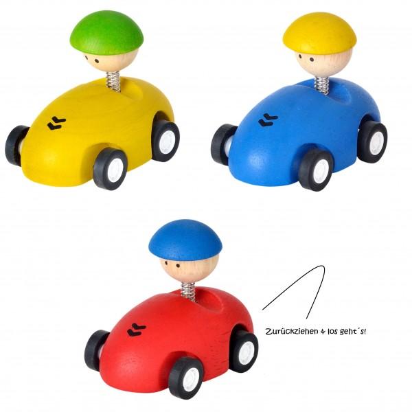 Kleine Autoflitzer mit Getriebemechanismus, 3er Pack