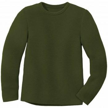 Weicher Linksstrick-Pullover oliv-grün