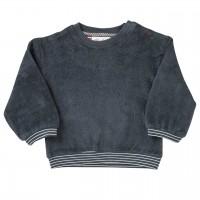 Robustes Frottee Sweatshirt in schiefergrau