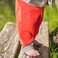 Kuschlige dicke Sweathose Jogginghose knall organge