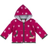 Warme Sweat Wolle Jacke Dachs berry