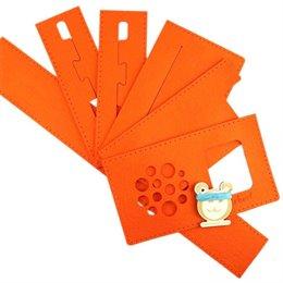 Hörbert Filz Schutzhülle zum selber Nähen Orange