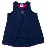 Vorschau: Öko Babykleid aus warmen Sweat mit Stickerei