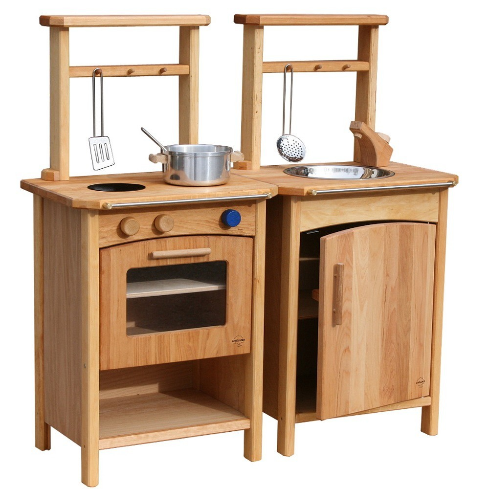 hochwertige & robuste spielküche - doppelseitig bespielbar, Moderne