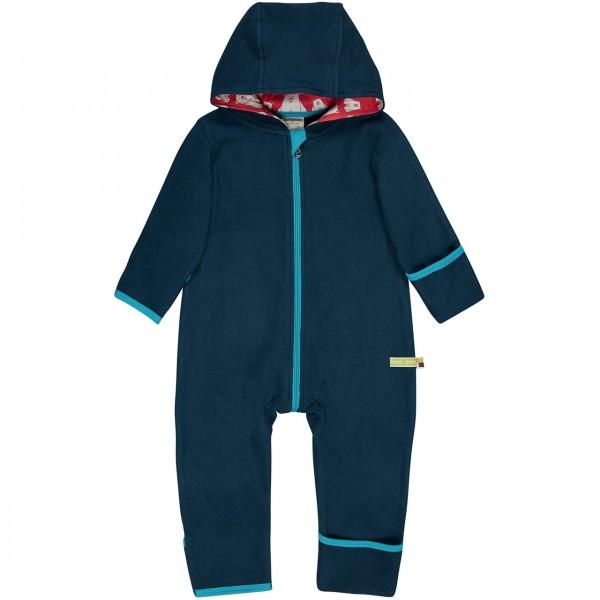 Kuscheliger Fleece Overall dunkelblau