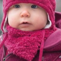 Kuschliges Baby Wendetuch - pink
