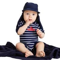 Badeanzug für Babys Kleinkinder navy