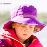 Vorschau: Sonnenhut Lasse breite luftige Kopfform Strickbund lila