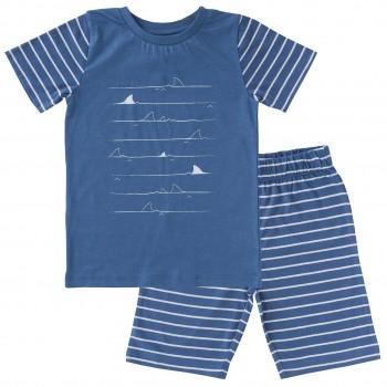 Schlafanzug leicht mit Shorts und Shirt
