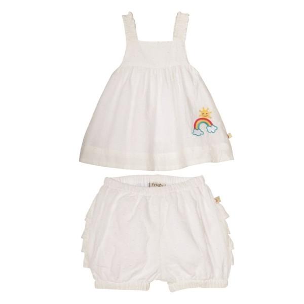 frugi retro Sommeroutfit Shirt mit süsser Shorts