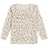 Elegante Langarmshirt Bluse in creme