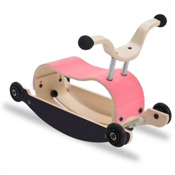 3in1 Rutschfahrzeug ab 9 Monate - Mini Flip pink/schwarz