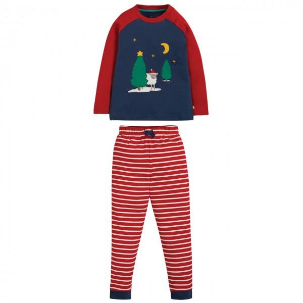 Kinder Schlafanzug mit Schäfchen Aufnäher