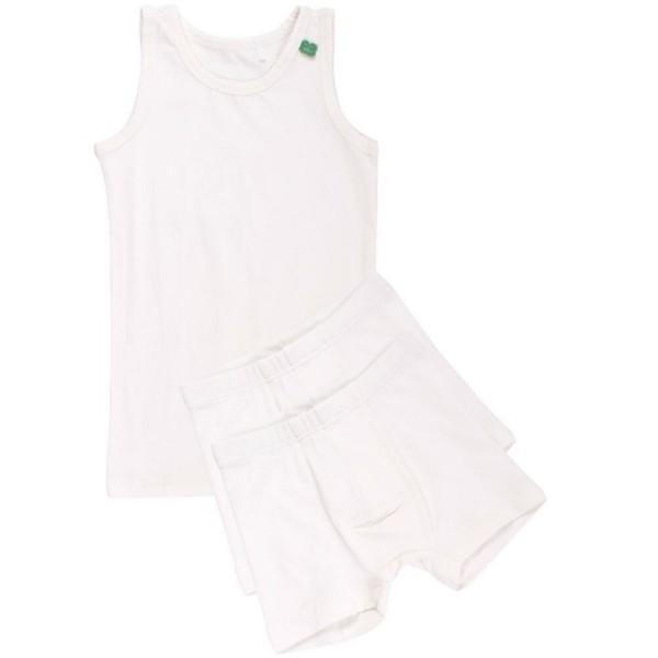 Set 1 Unterhemd 2 Shorts creme
