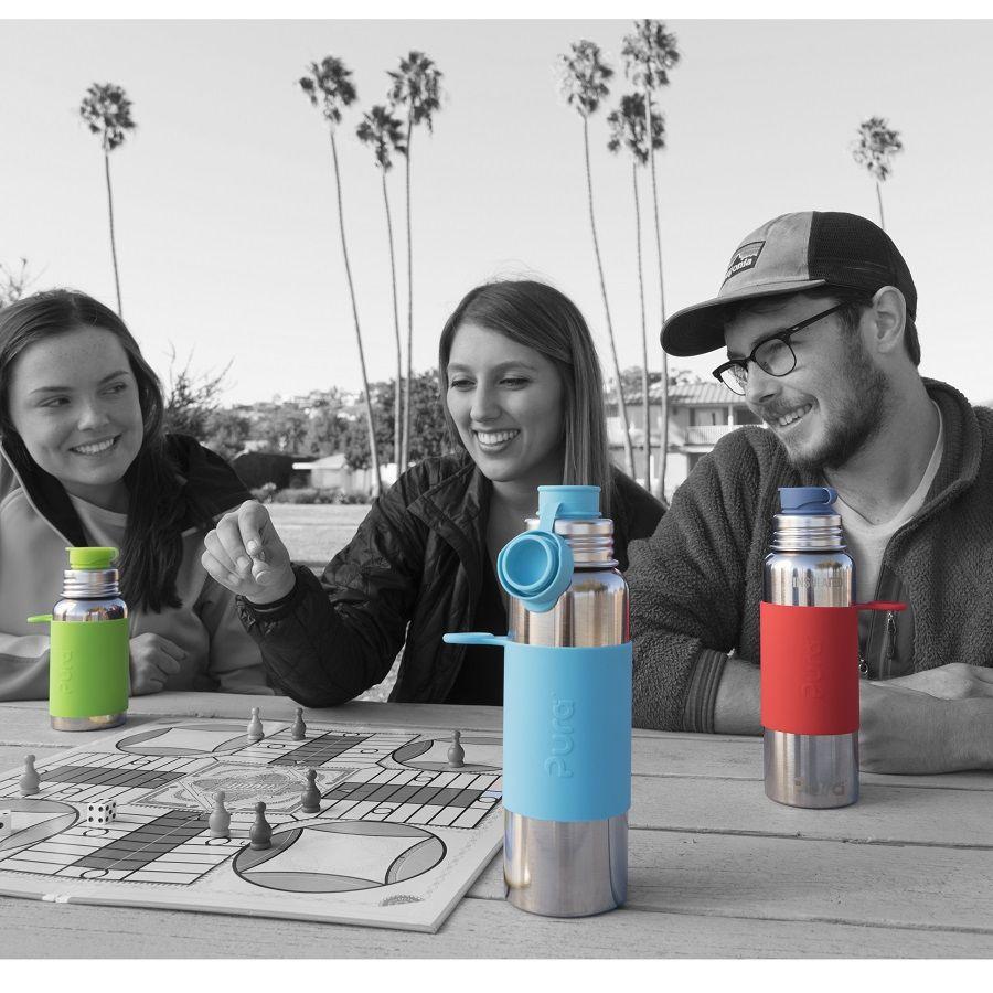 thermo edelstahl trinkflasche 650 ml gr n greenstories. Black Bedroom Furniture Sets. Home Design Ideas