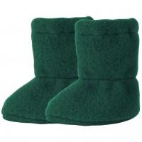 Wolle Babyschuhe als Socke in grün