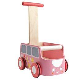 Rosa Lauflernwagen mit Stauraum