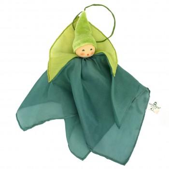 nanchen Seidenpuppe Schmusetuch hellgrün