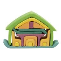 """""""Möbelhaus to go"""" - kleines Puppenhaus für großen Spielspaß"""