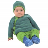 Vorschau: Wolle Leggings warm mitwachsend grün