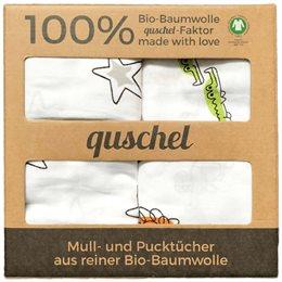 Bio Pucktuch XL 2er Pack Sterne & Zootiere bunt