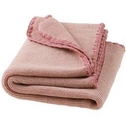 Merino Babydecke Schurwolle rosa