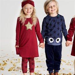 Schickes Kleid Pailletten Stern bordeaux