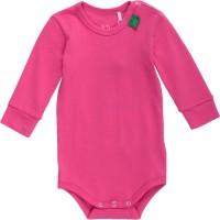 Vorschau: Softer Langarmbody mit Armbündchen - pink