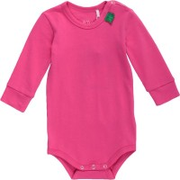 Softer Langarmbody mit Armbündchen - pink