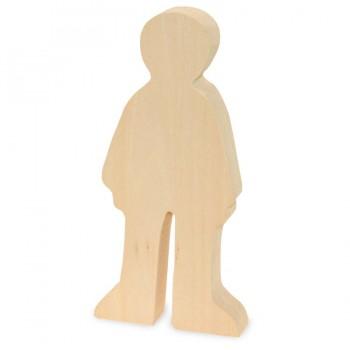 Schnitzrohling Holzfigur- Junge