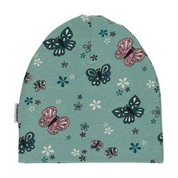 Mädchen Beanie Schmetterling hellblau