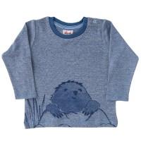 Langarm Shirt blau Maulwurf-Druck