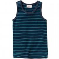 Weiches Unterhemd dunkelblau gestreift