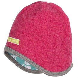 Woll Fleece Schneemann Wendemütze pink
