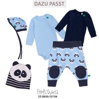 Vorschau: Sommer Interlock Babystrampler Panda
