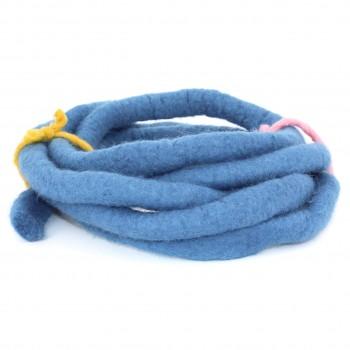 Filzband 1,5 cm dick, 3 m lang - mittelblau