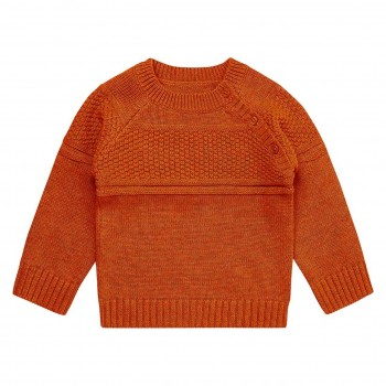Baby Strickpullover in rost-orange