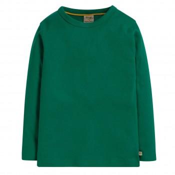 Grünes uni Langarmshirt