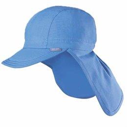 Capi - Schirmmütze mit Nackenschutz für heiße Tage blau