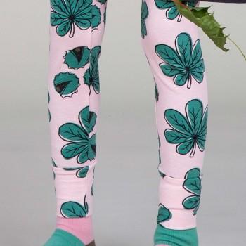 Leggings mit Bündchen Kastanie rosa