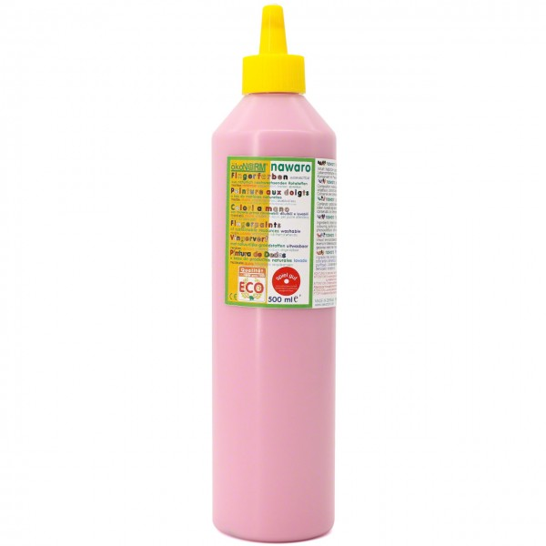 Fingerfarben 500 ml Schul- und Theaterfarbe rosa