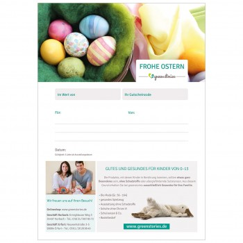 Email Gutschein zu Ostern