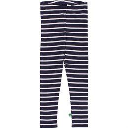 Gestreifte Babyleggings sehr elastisch navy