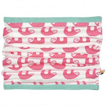 Schlauchschal leicht Faultiere pink