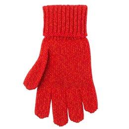 Rote Kinder Handschuhe mit Umschlagbündchen